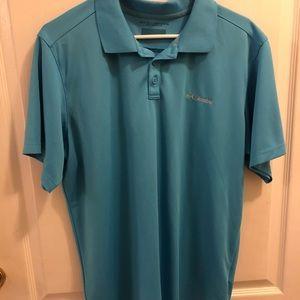 Blue Men's Columbia collared shirt